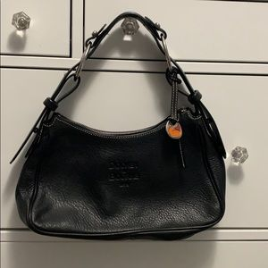Black leather Dooney and Bourke small bag